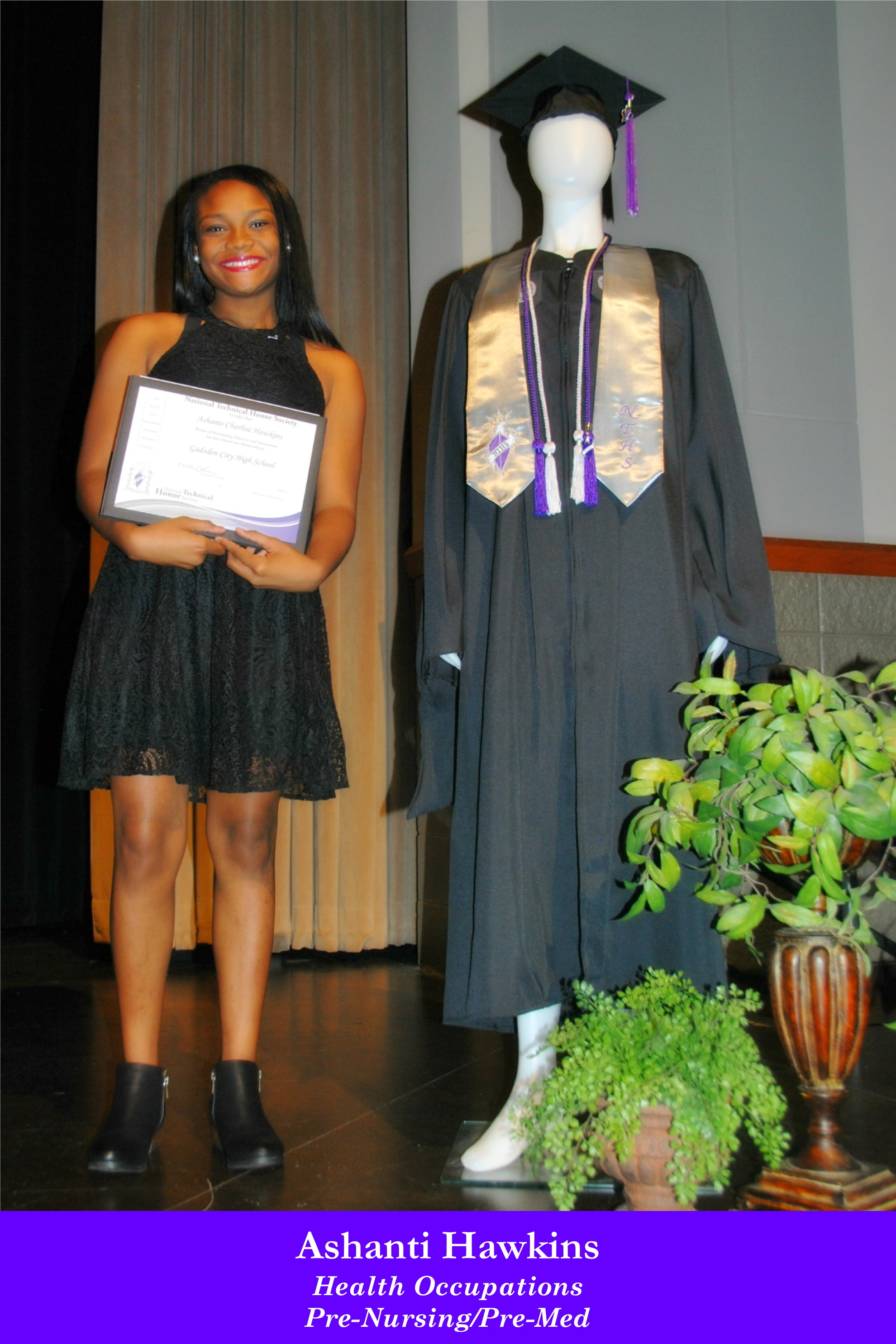 NTHS Induction Ashanti Hawkins
