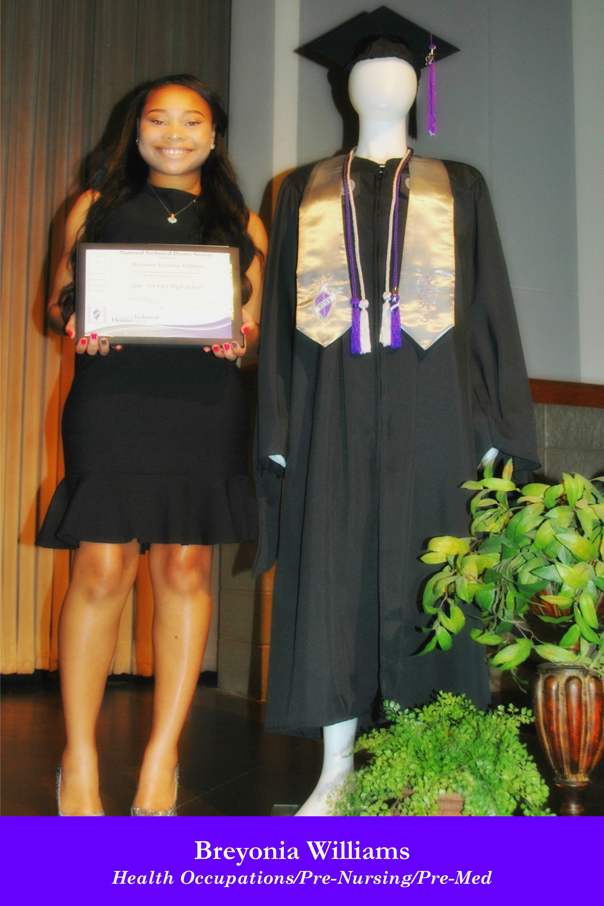 NTHS Induction Breyonia Williams