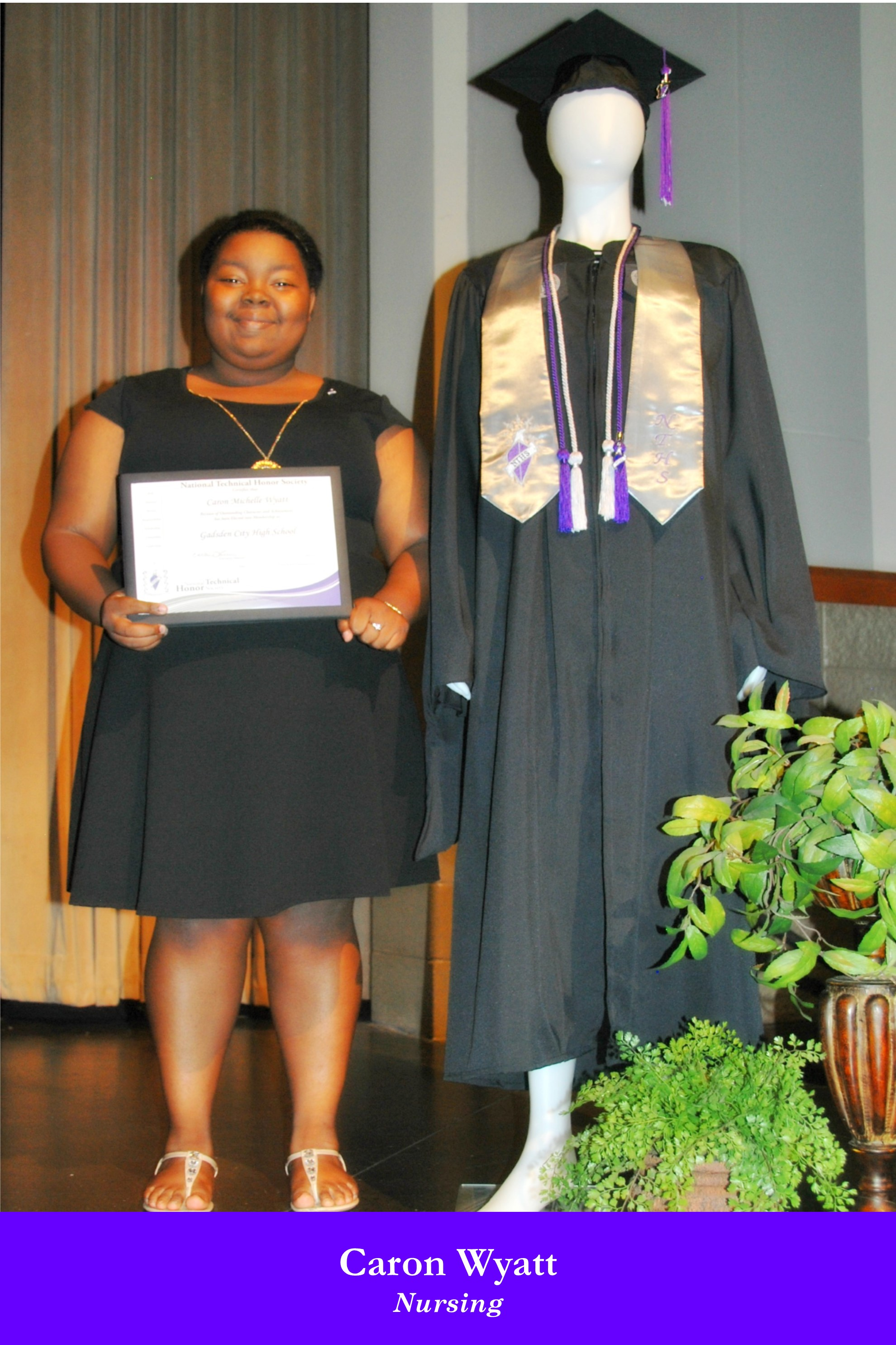NTHS Induction Caron Wyatt