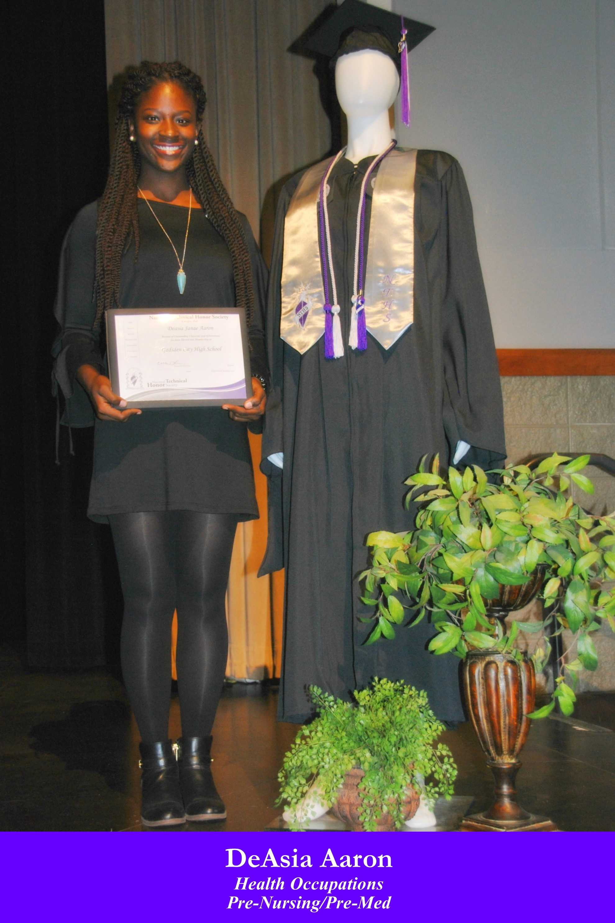 NTHS Induction DeAsia Aaron
