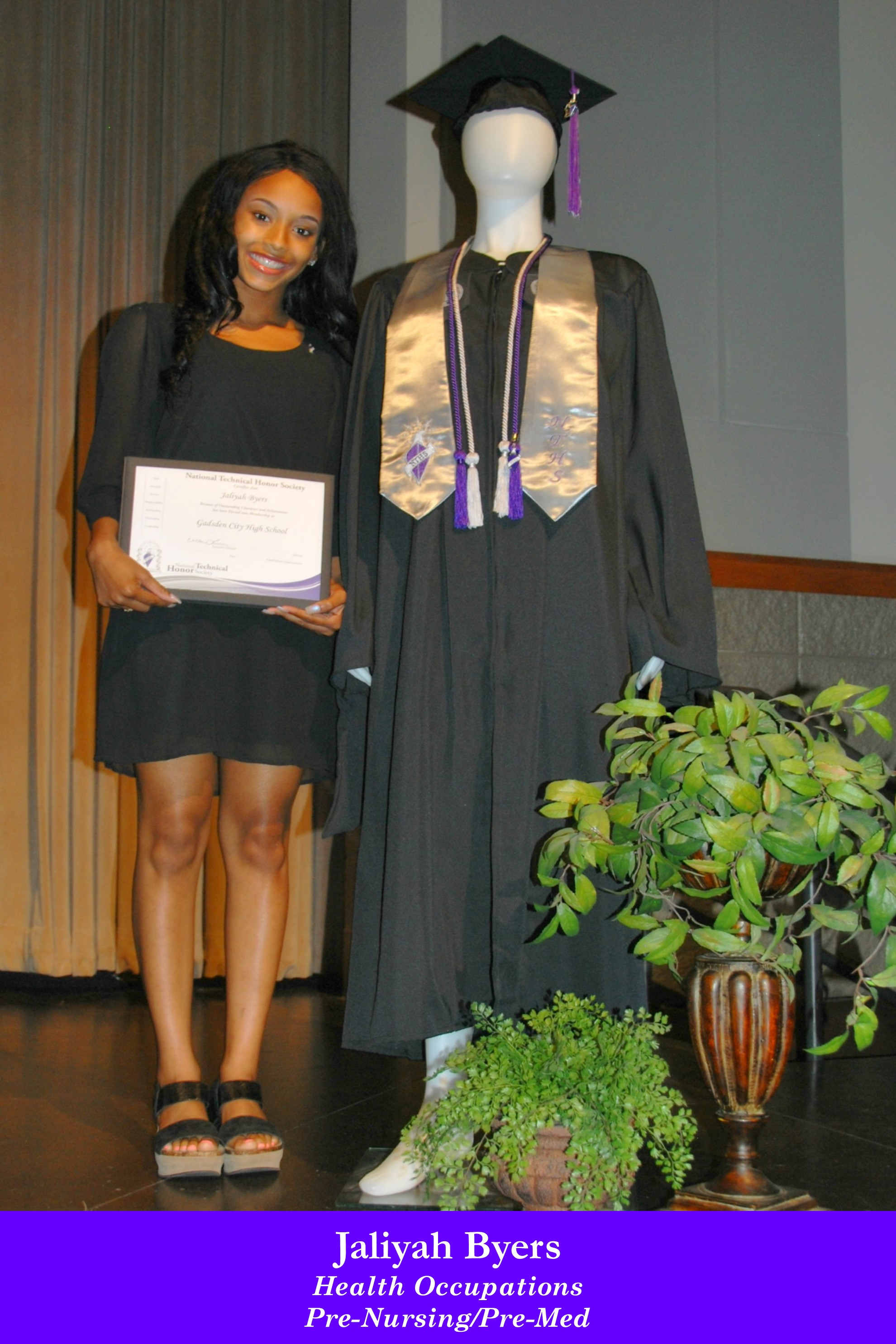 NTHS Induction Jaliyah Byers