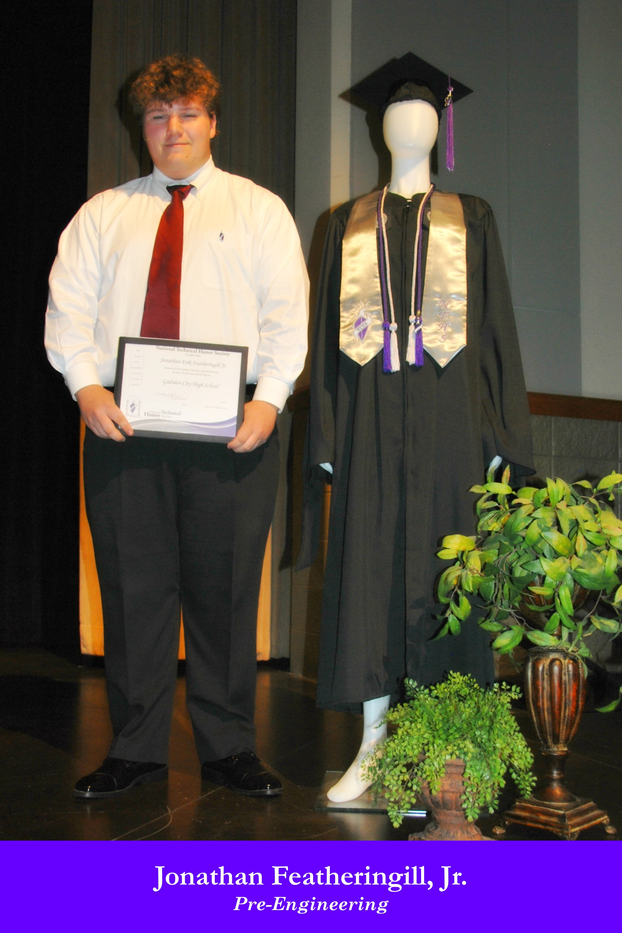 NTHS Induction Jonathan Featheringill