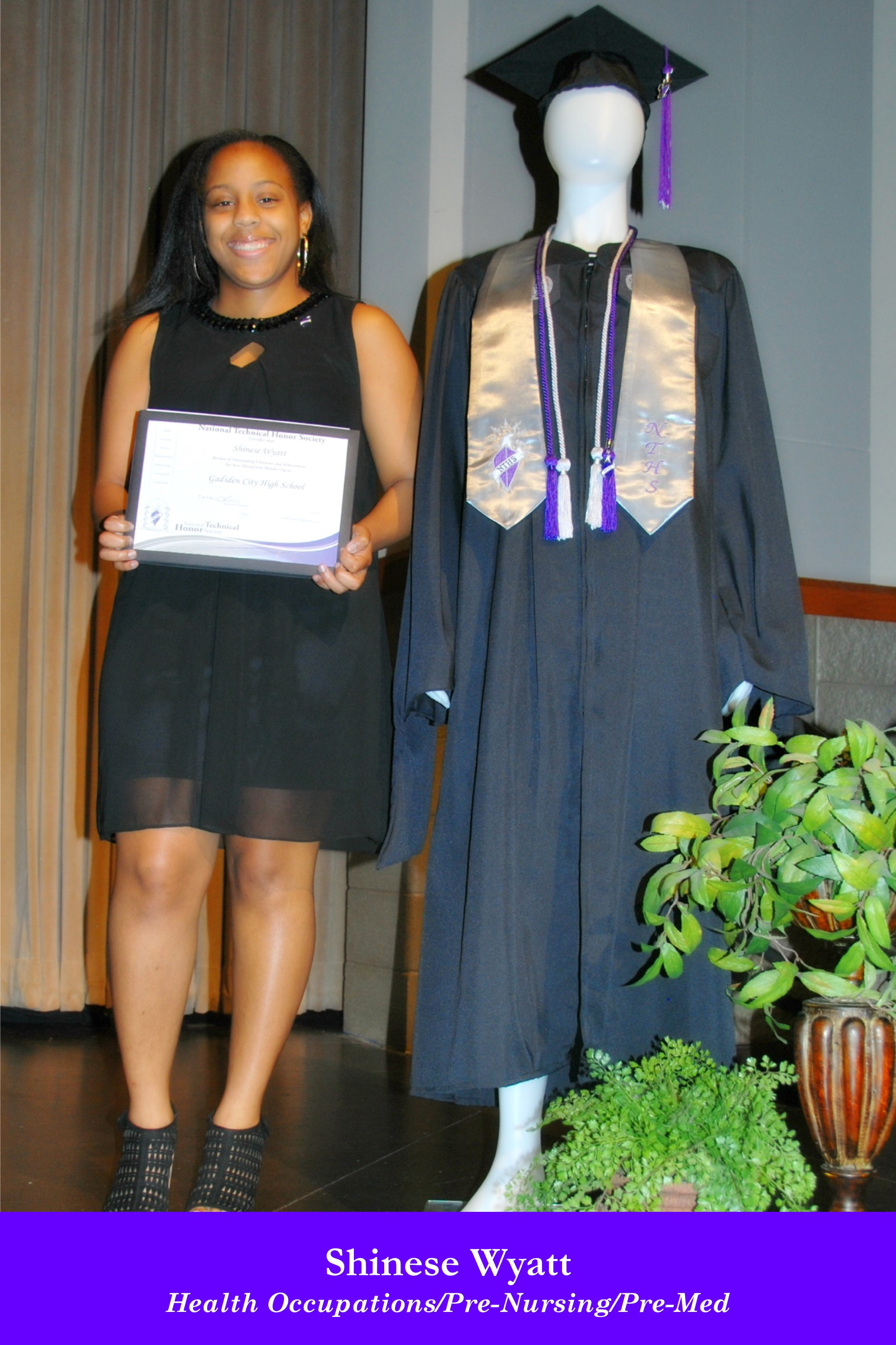 NTHS Induction Shinese Wyatt