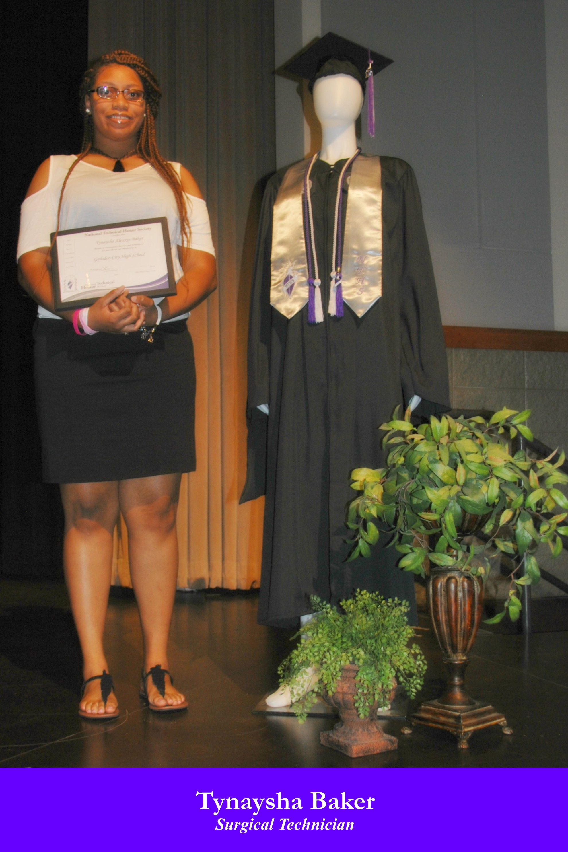 NTHS Induction Tynaysha Baker