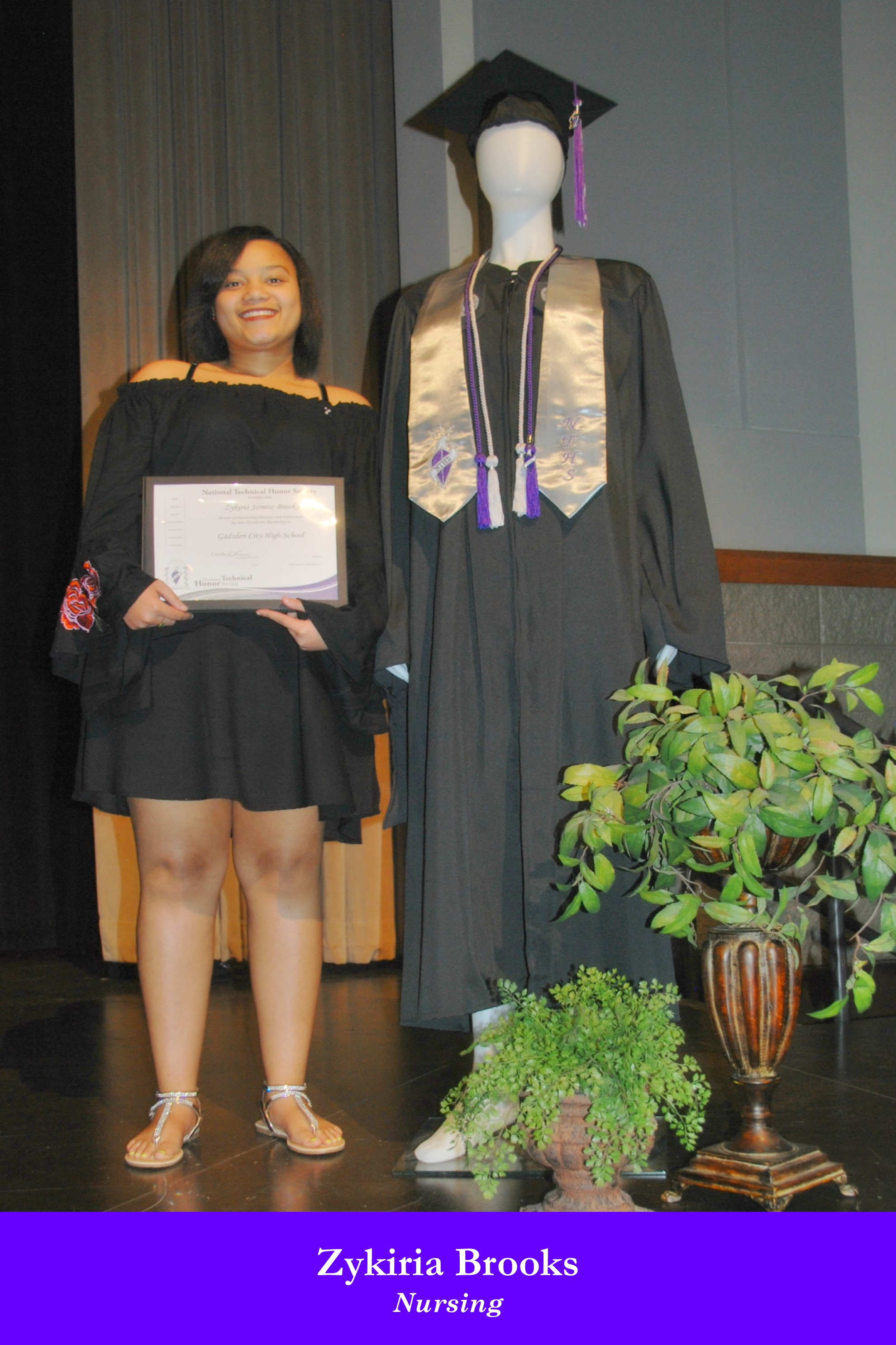 NTHS Induction Zykiria Brooks